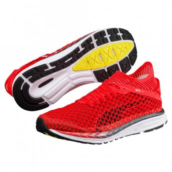 Puma Speed IGNITE NETFIT 2 Laufschuhe Running Herren Red Blast-Puma White-Puma Black | 42,5