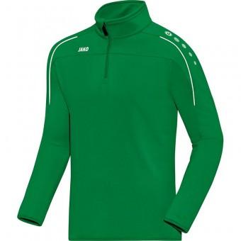 JAKO Ziptop Classico Pullover Zip Sweater sportgrün | 128