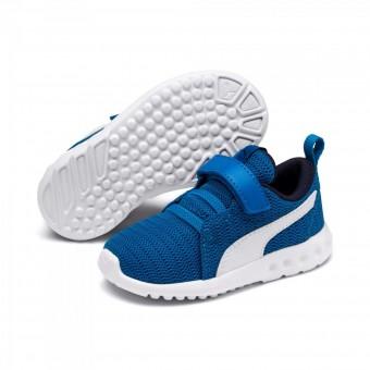 Puma Carson 2 V Inf Sneaker Kinder INDIGO BUNTING-PUMA WHITE | 21