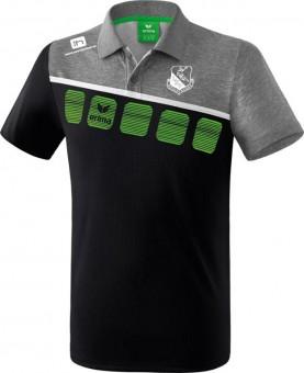 erima LHV Hoyerswerda 5-C Poloshirt schwarz-grau melange-weiß | 128
