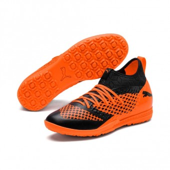 Puma FUTURE 2.3 NETFIT TT Fußballschuhe Turf Puma Black-Shocking Orange | 39