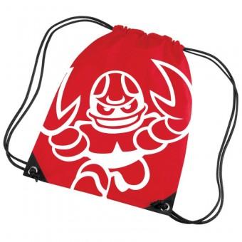 "Cottbus Crayfish ""Crayfish Logo"" Premium Gymbag rot | 33 x 45 cm"