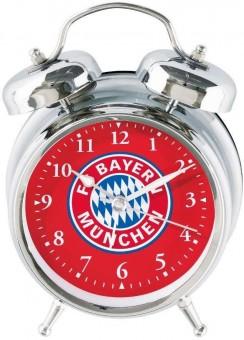 FC BAYERN MÜNCHEN Soundwecker Glocken silber/rot | L 12 x B 6 x H 17 cm