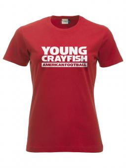 Cottbus Crayfish Fanshirt Young Crayfish Damen T-Shirt rot | XS