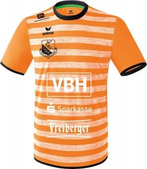 erima LHV Hoyerswerda Barcelona Trikot Auswärts neon orange-schwarz | 128