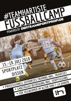 Anmeldung #TEAMHARTISTE FUSSBALLCAMP 15.07. - 19.07.2019 Sportplatz Dissen (Cottbus)