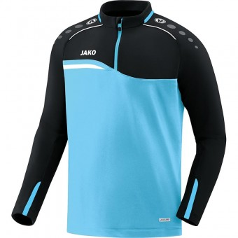 JAKO Ziptop Competition 2.0 Pullover Zip Sweater aqua-schwarz | 3XL