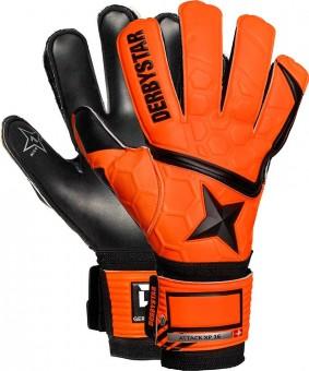 Derbystar Attack XP16 Torwarthandschuhe orange-schwarz | 0