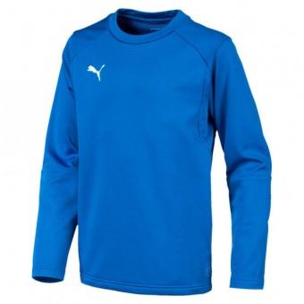 PUMA LIGA Training Sweat Jr Kinder Pullover Sweatshirt Electric Blue Lemonade-Puma White   116