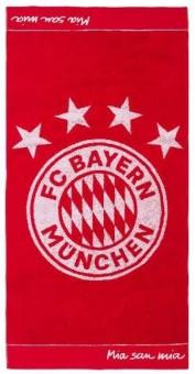 FC Bayern München Handtuch Emblem 100 x 50cm rot/weiß | 100 x 50cm