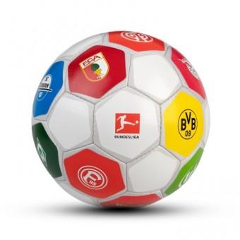 Derbystar BUNDESLIGA CLUBLOGO PRO Trainingsball Handgenäht Weiss/Grau   5