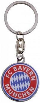 FC Bayern Schlüsselanhänger Logo Ø 3 cm silber/ rot/ blau   Durchmesser: ca. 3cm