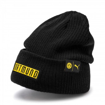 Puma BVB Football Culture Bronx Beanie Wintermütze Puma Black-Cyber Yellow | OSFA