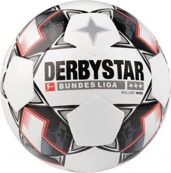 Derbystar Bundesliga Brillant Mini Fußball Mini weiß-schwarz-rot | 47 cm