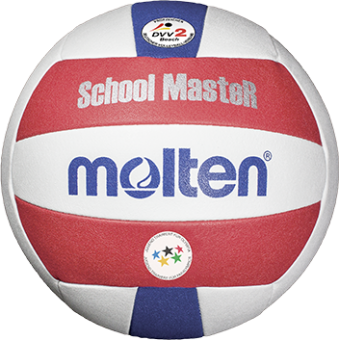 Molten V5B-SM Beachvolleyball SchoolMasteR weiß-rot-blau | 5