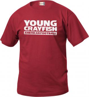 Cottbus Crayfish Fanshirt Young Crayfish Kinder T-Shirt rot   150/160