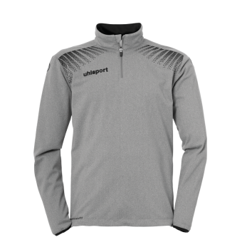 UHLSPORT GOAL 1/4 ZIP TOP PULLOVER ZIP SWEATER dark grey melange-schwarz | 128
