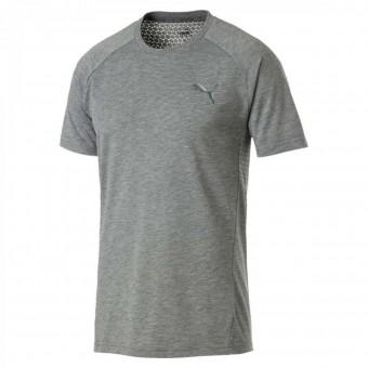 Puma Evostripe Move Tee Herren T-Shirt Medium Gray Heather | S
