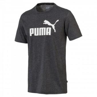 PUMA ESSENTIALS+ HEATHER TEE HERREN MELIERTES T-SHIRT Puma Black Heather | S