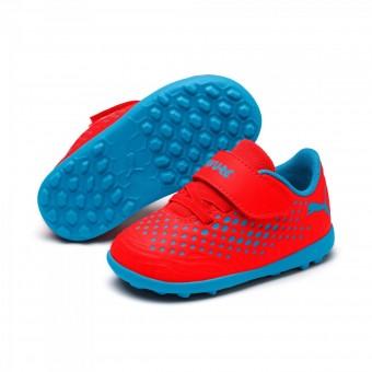Puma Future 19.4 TT V Inf Fußballschuhe Turf Kinder Red Blast-Bleu Azur | 19