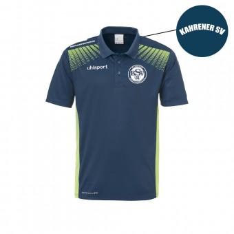 Uhlsport Kahrener SV Goal Polo Shirt petrol-flash grün | M