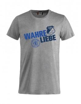 VfB 1921 Krieschow T-Shirt Wahre Liebe grau meliert | XS