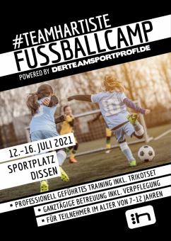 Anmeldung #TEAMHARTISTE FUSSBALLCAMP 12.07. - 16.07.2021 Sportplatz Dissen (Cottbus)