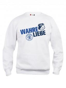 VfB 1921 Krieschow Sweatshirt Wahre Liebe weiß | XS