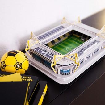 BVB Fanartikel BVB 3D Stadionpuzzle Puzzle gelb-schwarz   One Size