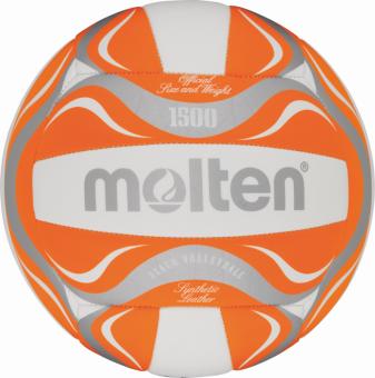 Molten BV1500-OR Beachvolleyball Freizeitball orange-weiß-silber | 5