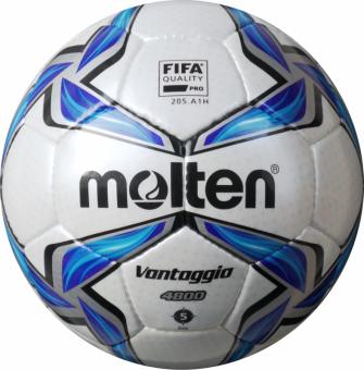 Molten F5V4800 Fußball Spielball weiß-blau-silber | 5