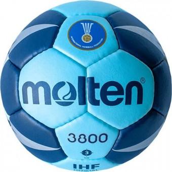 Molten H3X3800-CN Handball Wettspielball cyan-blau | 3