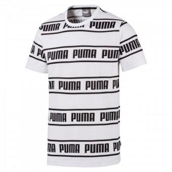 PUMA AMPLIFIED TEE HERREN T-SHIRT Puma White | M