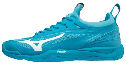 Mizuno Wave Mirage 2.1 Indoor Hallenschuhe Blue Jewel-White-Hawaiian Ocean | 42