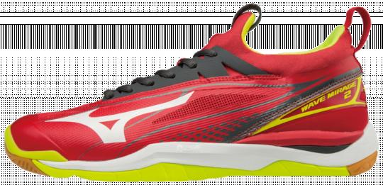 neuer Stil 60% günstig Sonderrabatt von Mizuno Wave Mirage 2 Hallenschuhe Indoor Handball Herren Mars  Red-White-Safety Yellow | 42