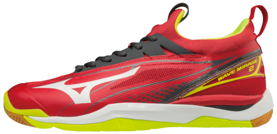 Mizuno Wave Mirage 2 Hallenschuhe Indoor Handball Herren Mars Red-White-Safety Yellow | 42