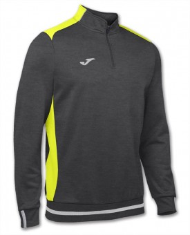 JOMA Zip Top Campus 2 Zip Sweater dunkelgrau-neongelb | 104