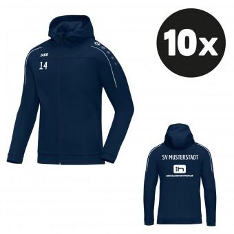 JAKO Damen Kapuzenjacke Classico Teampaket mit Textildruck marine | 34 (XS) - 48 (XXL)