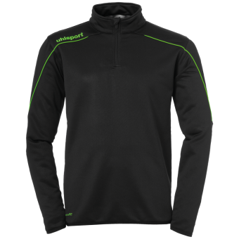 UHLSPORT STREAM 22 1/4 ZIP TOP PULLOVER ZIP SWEATER schwarz-fluo grün | 104