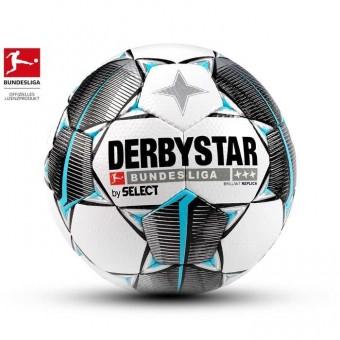 Derbystar BUNDESLIGA BRILLANT REPLICA Fußball Trainingsball Weiss-Schwarz-Petrol | 5