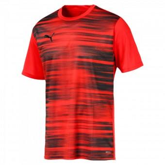 Puma Core Graphic Herren T-Shirt Nrgy Red-Puma Black   S