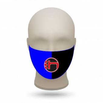 Mund- und Nasenmasken mit Vereinslogo royal-schwarz   50 Stk