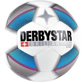 DERBYSTAR BRILLANT S-LIGHT FUSSBALL JUGENDBALL weiß-blau-schwarz | 5