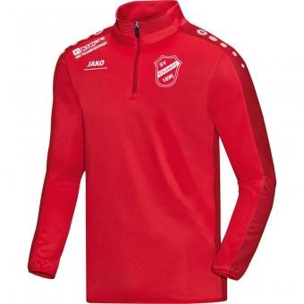 Kolkwitzer SV 1896 Zip Top Striker Trainingssweater m. Reißverschluss rot | 128