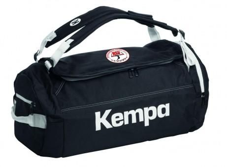 KEMPA HSV Cottbus Volley K-Line Tasche Sporttasche Backpack schwarz-weiß   54 x 28 x 28 cm, 40L Volumen