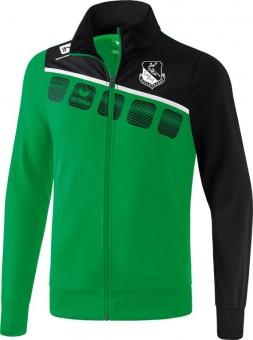 erima LHV Hoyerswerda 5-C Polyesterjacke smaragd-schwarz-weiß | 128
