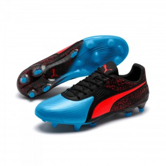 Puma One 19.1 CC FG/AG Bleu Azur-Red Blast-Black | 42,5
