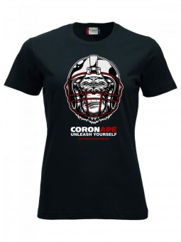 Cottbus Crayfish CoronAPE T-Shirt Damen schwarz | XS