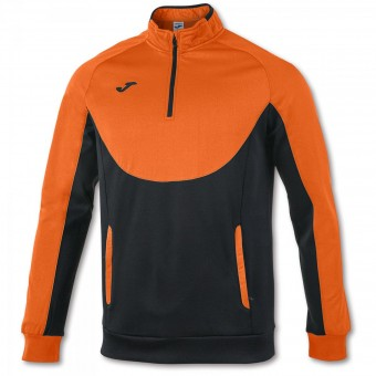 JOMA Zip Top Essential Zip Sweater schwarz-orange | 116