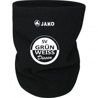 JAKO SV Grün-Weiß Dissen Neckwarmer Schlauchschal schwarz   One Size